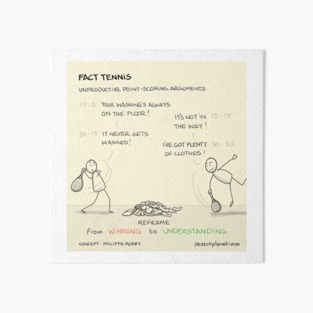 Fact tennis Art Board Print