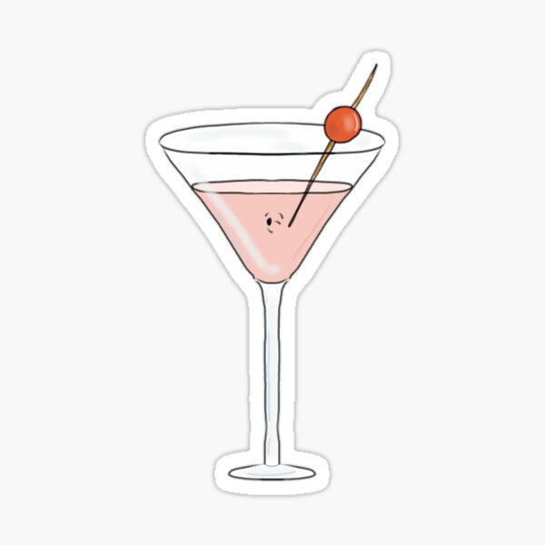 MARTINI COCKTAIL RECIPE STICKER//DECAL vintage swingin sixties 60/'s RETRO Bar