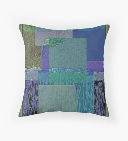 BY THE BAY-ABSTRACT Throw Pillow