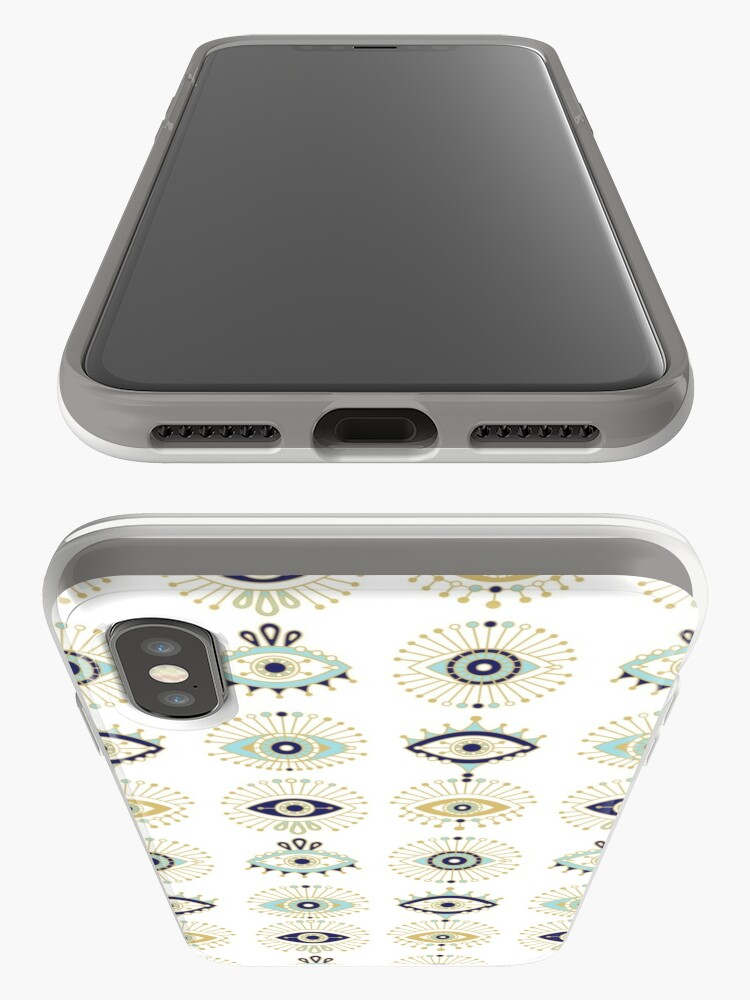 Alternate view of Evil Eye Collection on White iPhone Case & Cover