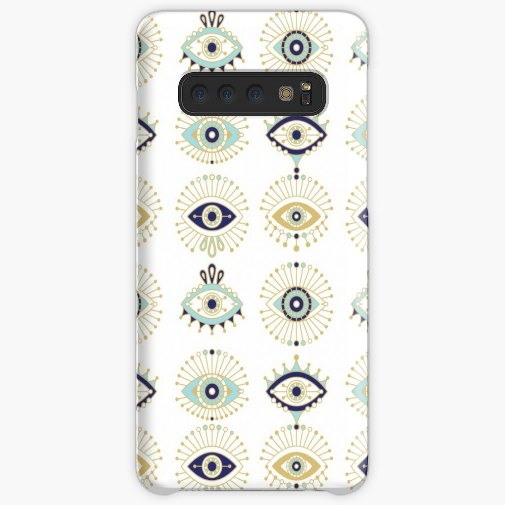 Evil Eye Collection on White Case & Skin for Samsung Galaxy