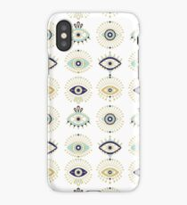 Evil Eye Collection on White iPhone Case/Skin
