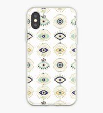 Sammlung des bösen Blicks auf Weiß iPhone-Hülle & Cover