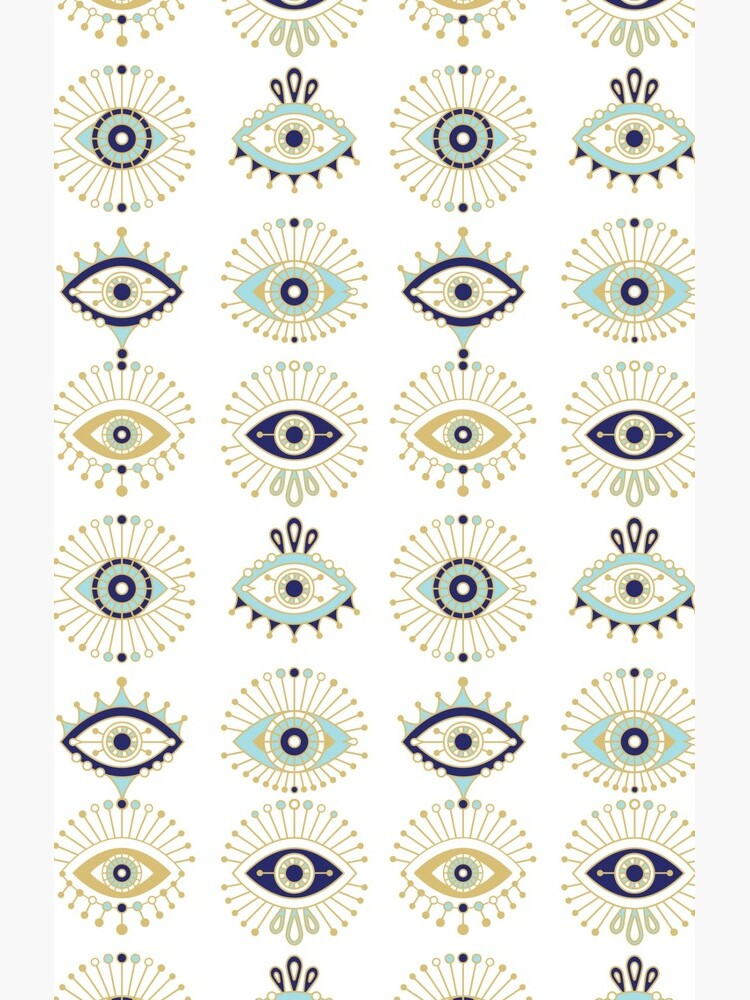 Evil Eye Collection on White by catcoq