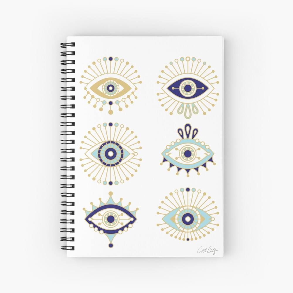 Evil Eye Collection on White Spiral Notebook