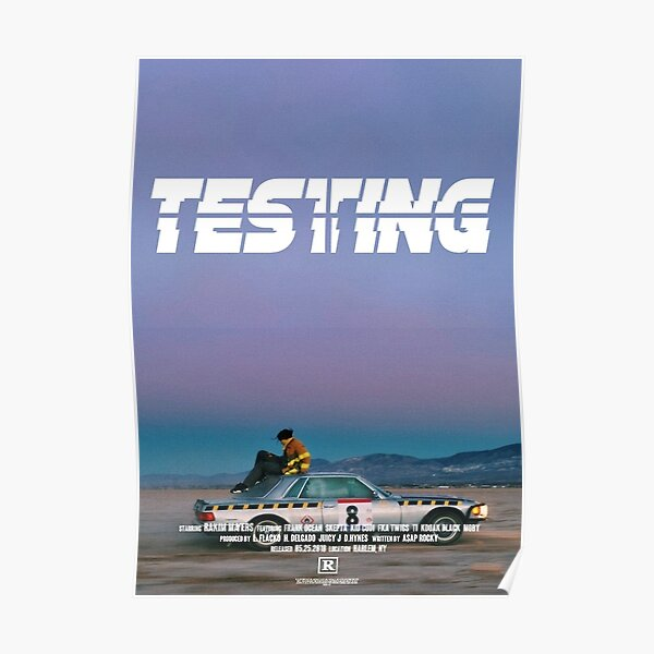 Testing Car Poster