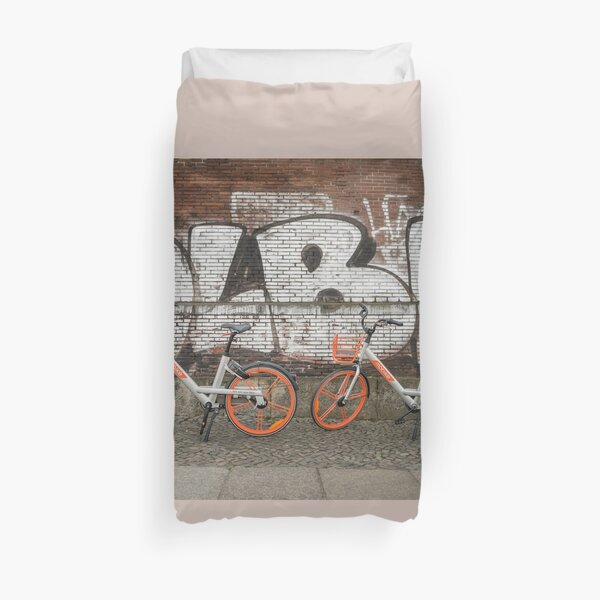 Cycling in Berlin Duvet Cover