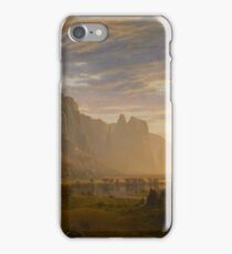 Albert Bierstadt - Looking Down Yosemite Valley, California American Landscape iPhone Case/Skin
