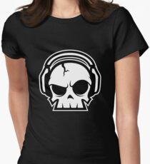 Dead.FM Oscar Skull Women's Fitted T-Shirt