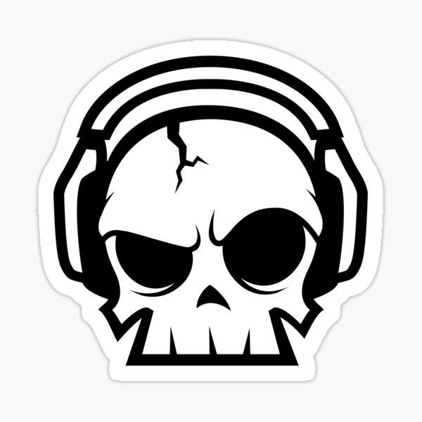 Dead.FM Oscar Skull Sticker