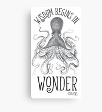 Wisdom Begins in Wonder Canvas Print
