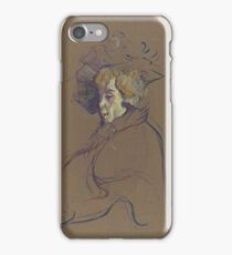 Henri de Toulouse-Lautrec  - Jane Avril (1892)Woman Portrait Fashion iPhone Case/Skin
