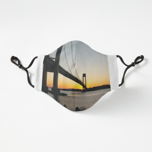 Fitted Masks, New York, New York City, Brooklyn, #NewYork, #NewYorkCity, #Brooklyn, Verrazano-Narrows Bridge, #VerrazanoNarrowsBridge, #VerrazanoBridge, #bridge, #Verrazano, #Narrows, Verrazano-Narrows Bridge Fitted 3-Layer