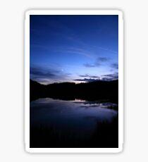 Moonset over Padish Plateau Sticker