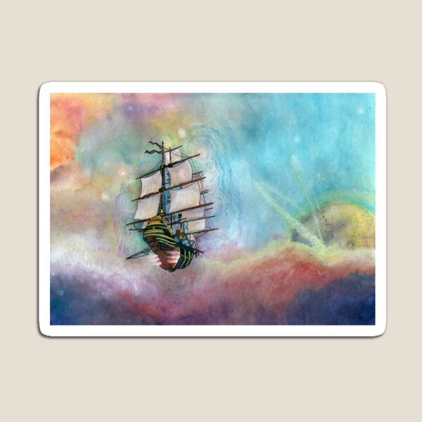 Mike's Tall Ship Magnet