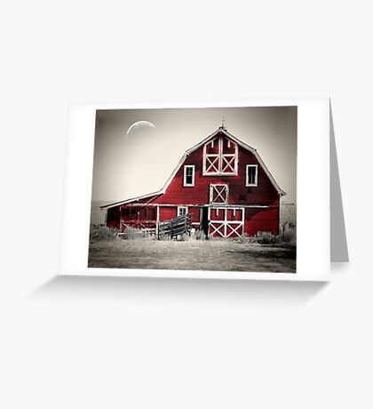 Luna Barn Greeting Card