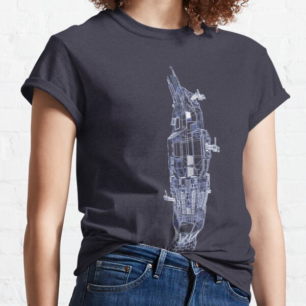 Rocinante Technical Blueprint - The Expanse  Classic T-Shirt