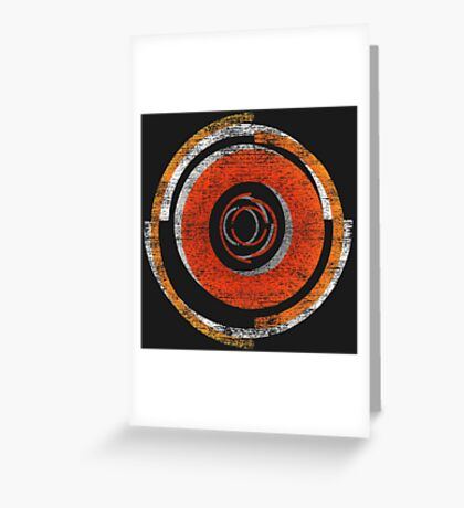 Broken In Circles and Off-centered Greeting Card