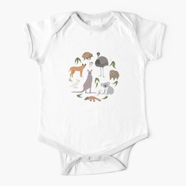 Australian Animals Short Sleeve Baby One-Piece
