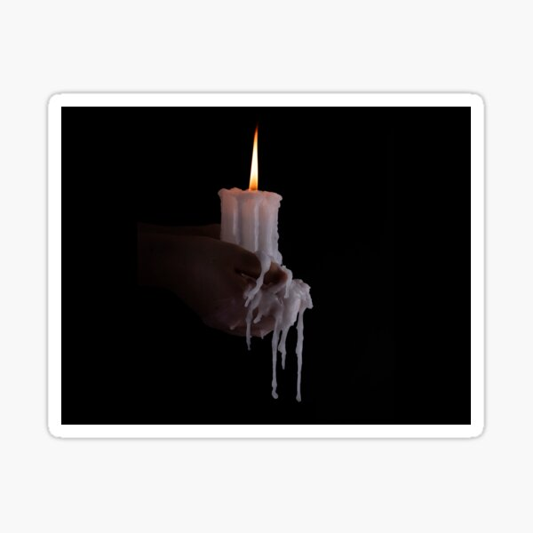 Holding a candle to you Sticker