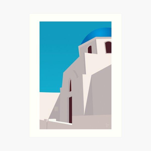 Minimalist Santorini Art Print