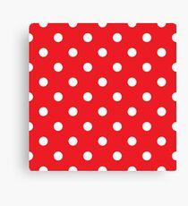 Polka dot fabric. Retro vector background Canvas Print
