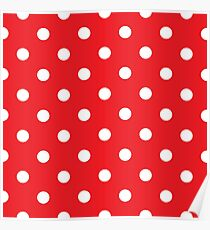 Polka dot fabric. Retro vector background Poster