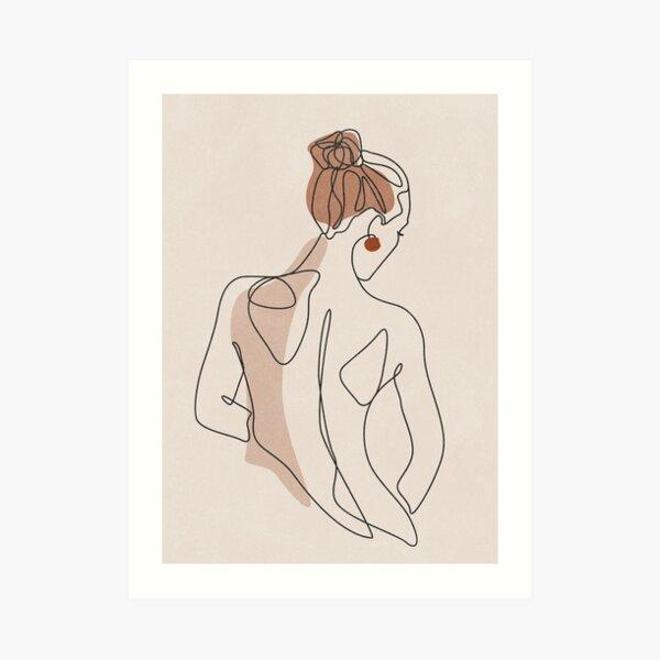 Line Woman Body Art Print
