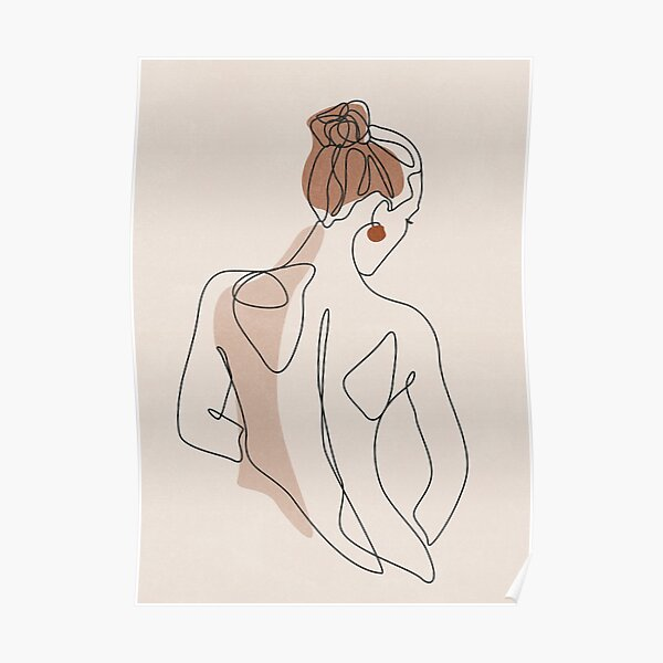 Line Woman Body Poster