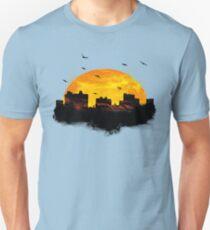 Sunset over city skyline - Birds Unisex T-Shirt