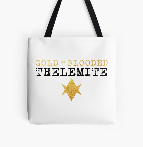 Gold-Blooded Thelemite (light background) All Over Print Tote Bag