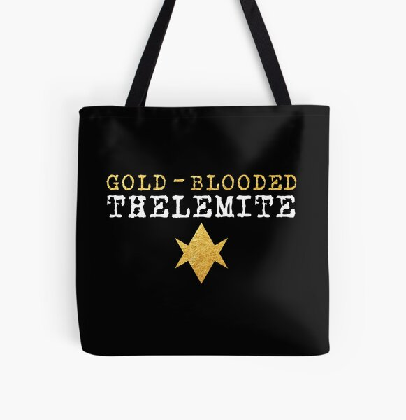 Gold-Blooded Thelemite (dark background) All Over Print Tote Bag
