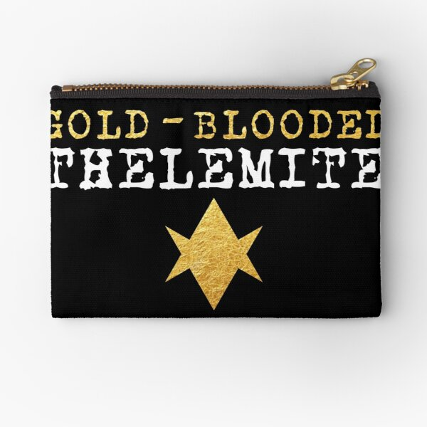 Gold-Blooded Thelemite (dark background) Zipper Pouch