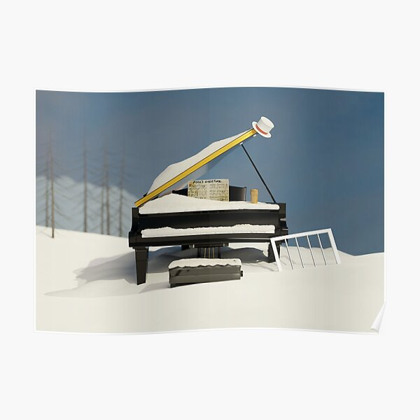 Piano under the snow Poster