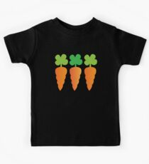 Three carrots orange vegetables Kids Clothes