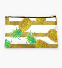 Pineapple fruit and stripes. Studio Pouch