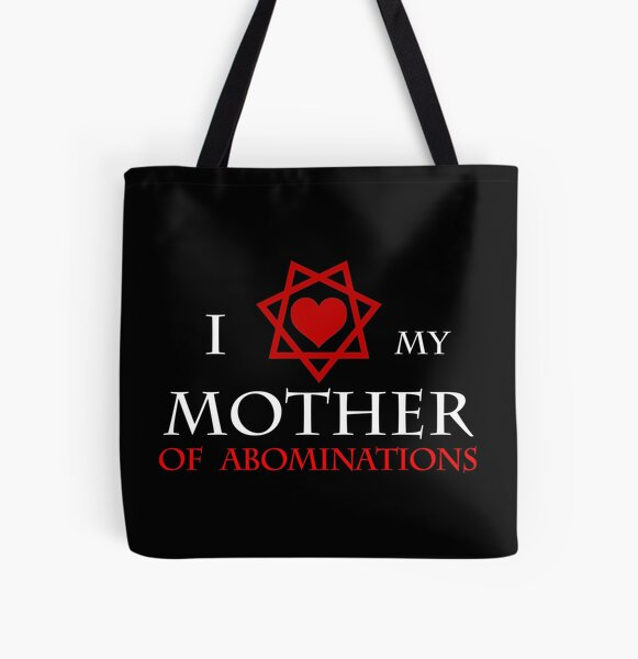 I <3 my Mother of Abominations All Over Print Tote Bag