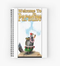 Turtle Hula Dancing on the Beach Spiral Notebook