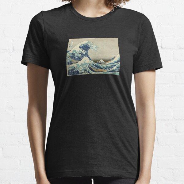 Great Wave T-Shirt - Hokusai Duvet Surfing Kanagawa Mount Fuji Sticker Essential T-Shirt