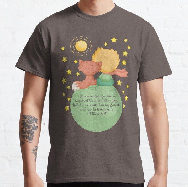 El Principito y el zorro versión Inglés Camiseta clásica