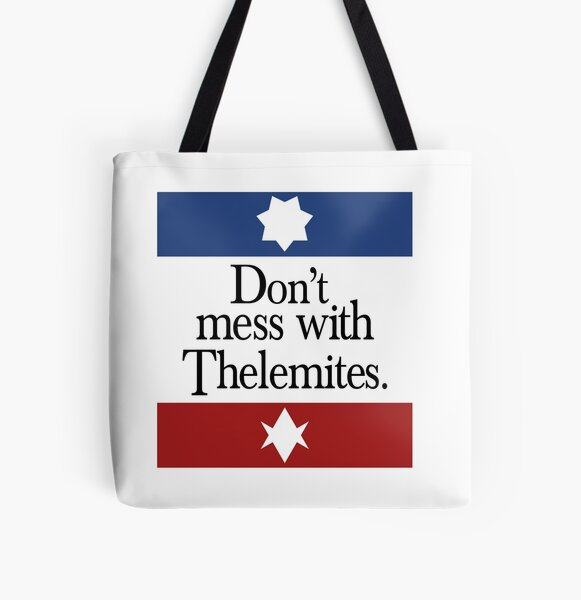 Don't mess with Thelemites All Over Print Tote Bag