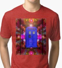 TARDIS IN THE EYE OF ORION 1 Tri-blend T-Shirt