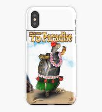 Turtle Dancing the Hula on a Hawaiian Beach iPhone Case
