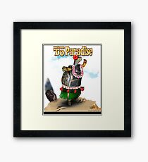 Turtle Dancing the Hula on a Hawaiian Beach Framed Print