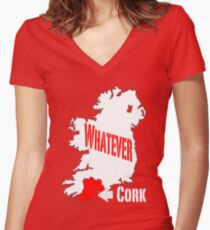 Cork... Whatever... Women's Fitted V-Neck T-Shirt