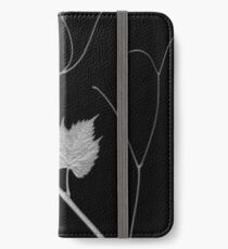 grapevine scanogram b&w iPhone Wallet/Case/Skin