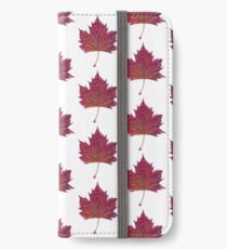 autumn leaf scanogram iPhone Wallet/Case/Skin