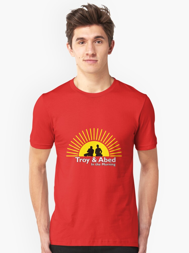 Troy and Abed in the Morning Unisex T-Shirt Front