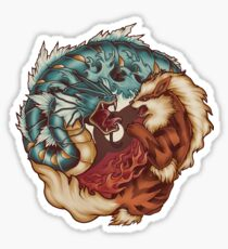 The Tiger and the Dragon Sticker