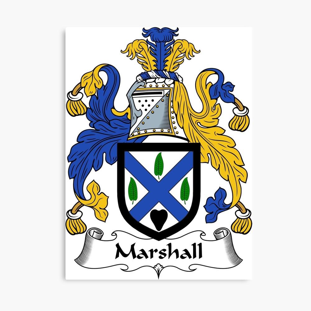 Marshall Wappen / Marshall Familienwappen Leinwanddruck